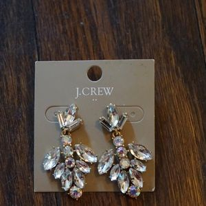J Crew Rhinestone Earrings